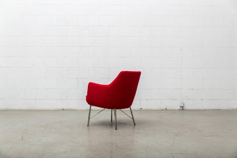 Pair of Red Ekelius Lounge Chairs for Pastoe 5