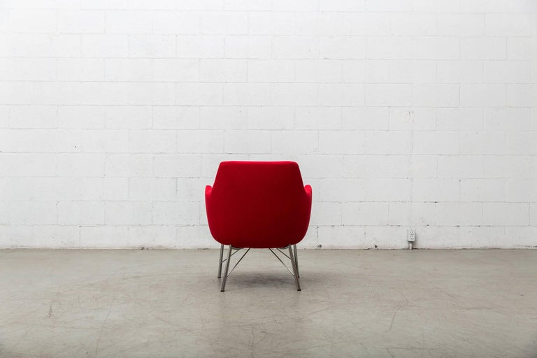 Pair of Red Ekelius Lounge Chairs for Pastoe 6