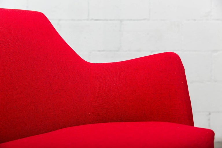 Pair of Red Ekelius Lounge Chairs for Pastoe 10
