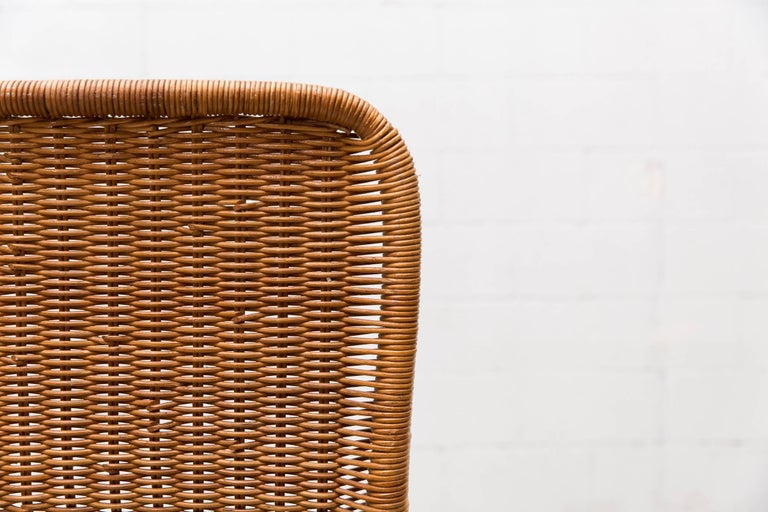 Dirk Van Sliedregt High Back Rattan Lounge Chair with White Frame 9