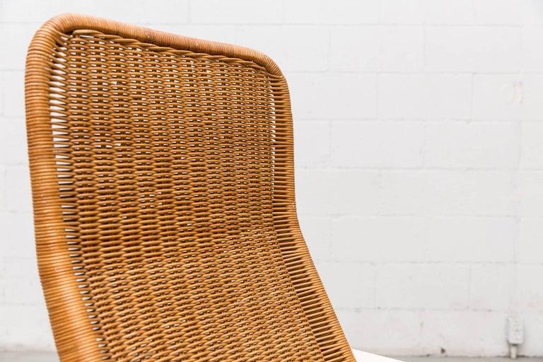 Dirk Van Sliedregt High Back Rattan Lounge Chair with White Frame 10