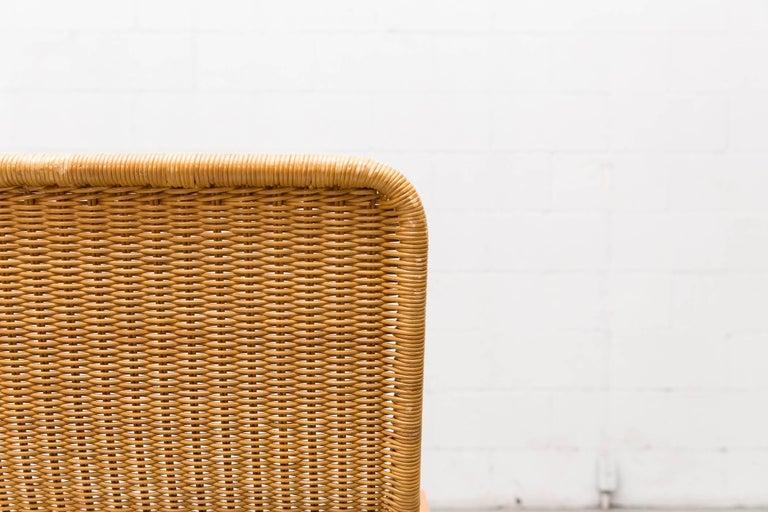 Dirk Van Sliedregt Rattan Lounge Chair with Wood Arms 9