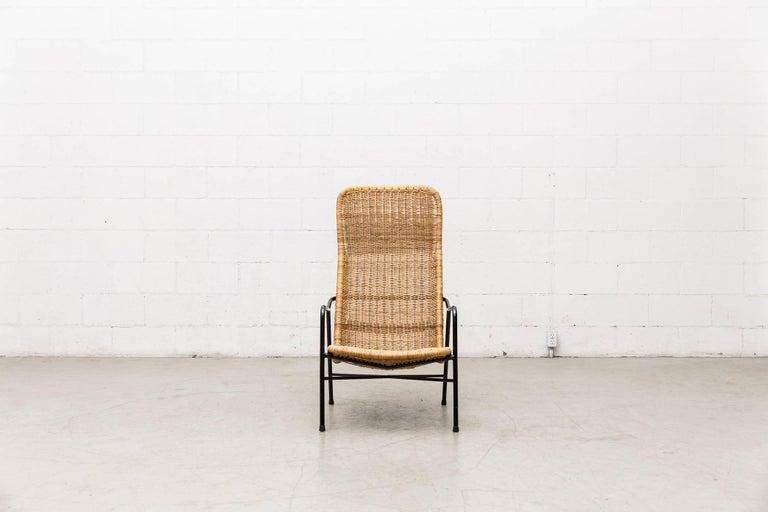 Dirk Van Sliedregt High Back Bamboo Arm Chair with Black Frame 2