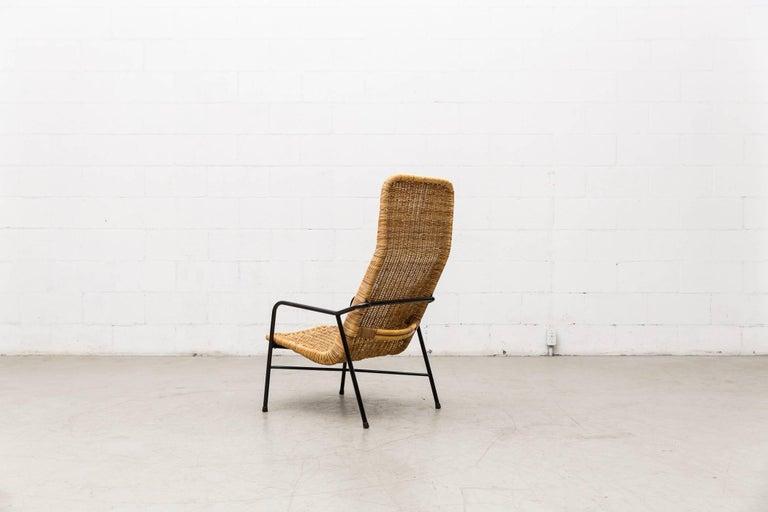 Dirk Van Sliedregt High Back Bamboo Arm Chair with Black Frame 4