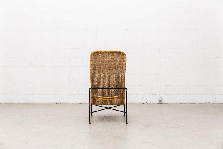 Dirk Van Sliedregt High Back Bamboo Arm Chair with Black Frame 5
