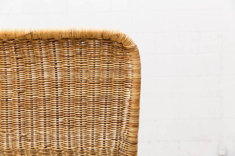 Dirk Van Sliedregt High Back Bamboo Arm Chair with Black Frame 7