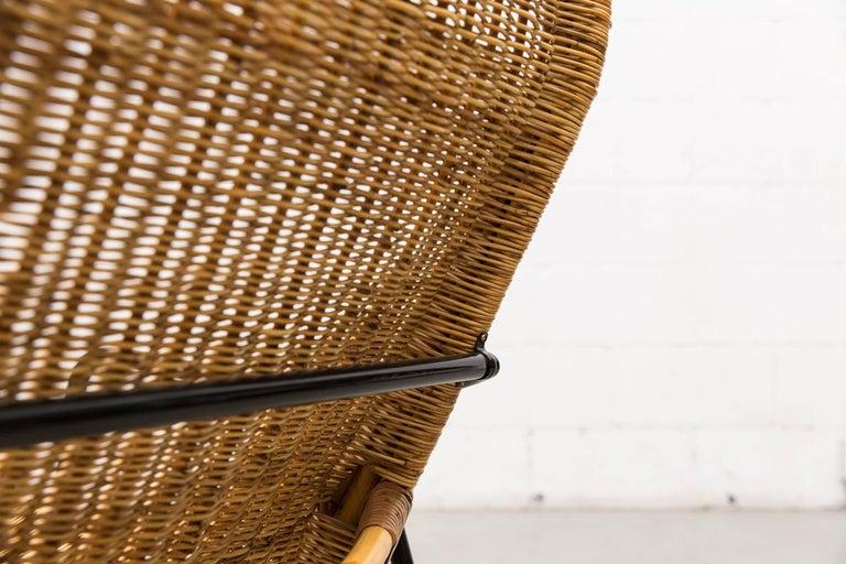 Dirk Van Sliedregt High Back Bamboo Arm Chair with Black Frame 8