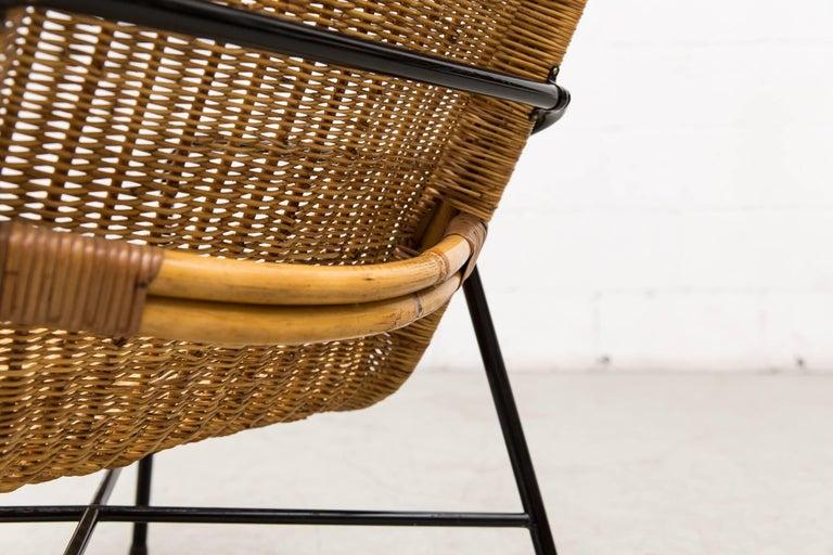 Dirk Van Sliedregt High Back Bamboo Arm Chair with Black Frame 9