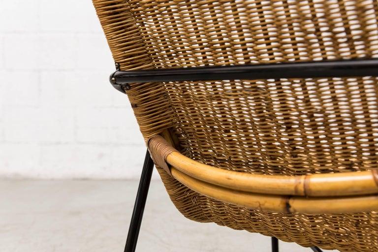 Dirk Van Sliedregt High Back Bamboo Arm Chair with Black Frame 10