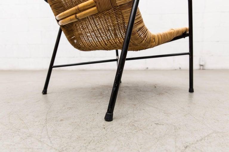 Dirk Van Sliedregt High Back Bamboo Arm Chair with Black Frame 6
