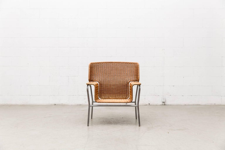 Rare Dirk Van Sliedregt Rattan Throne Lounge Chair 2