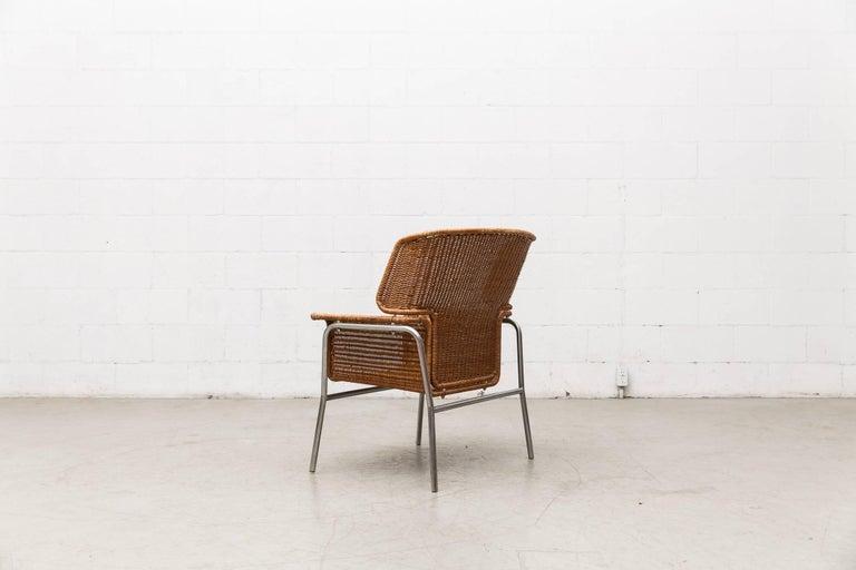 Rare Dirk Van Sliedregt Rattan Throne Lounge Chair 4