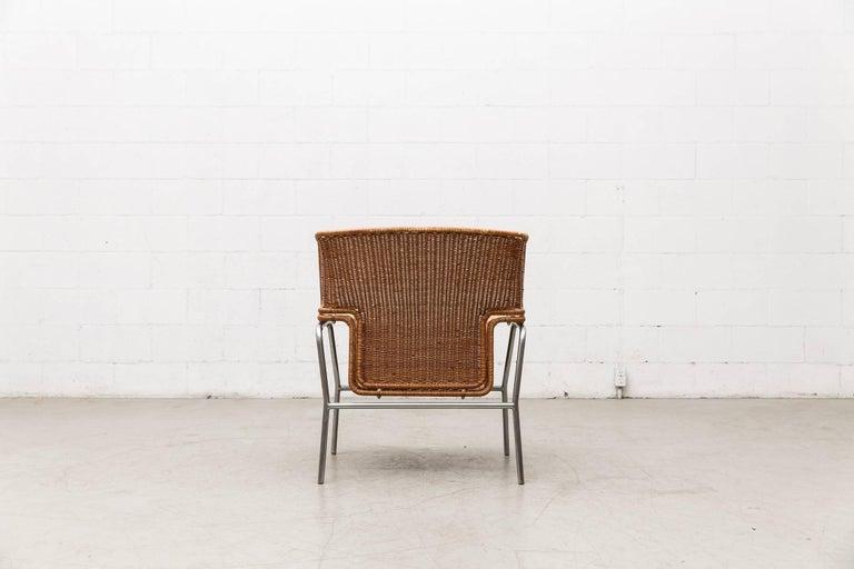 Rare Dirk Van Sliedregt Rattan Throne Lounge Chair 5