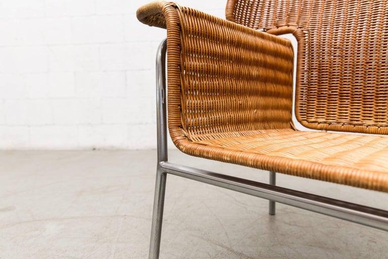 Rare Dirk Van Sliedregt Rattan Throne Lounge Chair 6