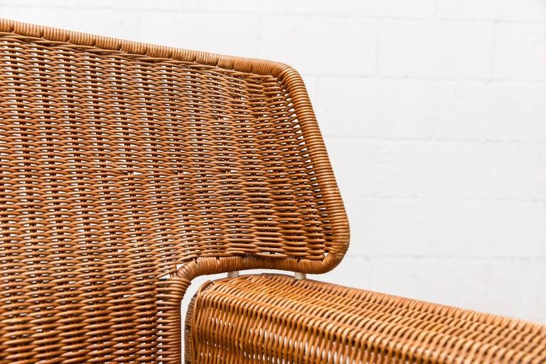 Rare Dirk Van Sliedregt Rattan Throne Lounge Chair 7