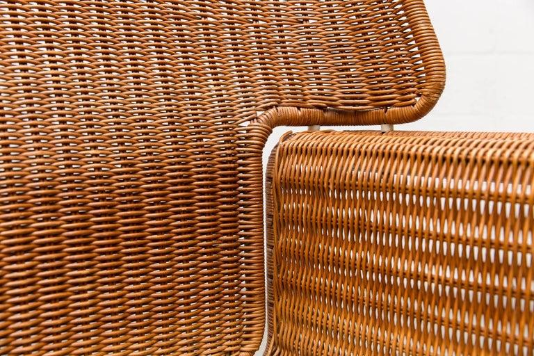 Rare Dirk Van Sliedregt Rattan Throne Lounge Chair 8