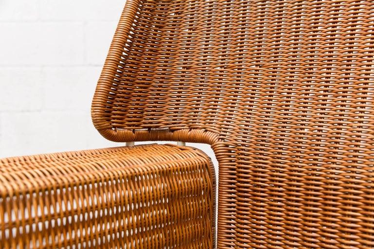 Rare Dirk Van Sliedregt Rattan Throne Lounge Chair 9