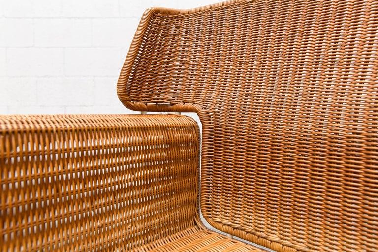 Rare Dirk Van Sliedregt Rattan Throne Lounge Chair 10