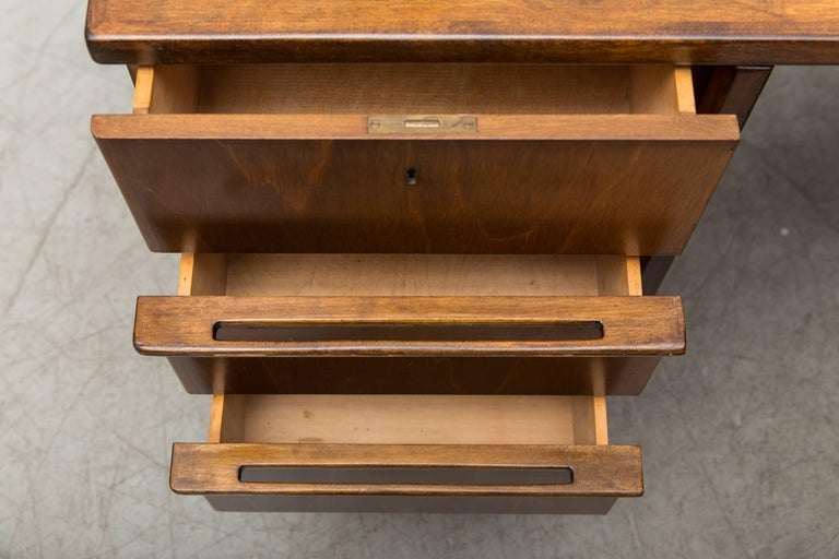 Oak Cees Braakman Desk for Pastoe For Sale