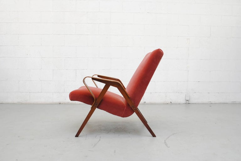 Tatra Bent Plywood Lounge Chair in Velvet 4