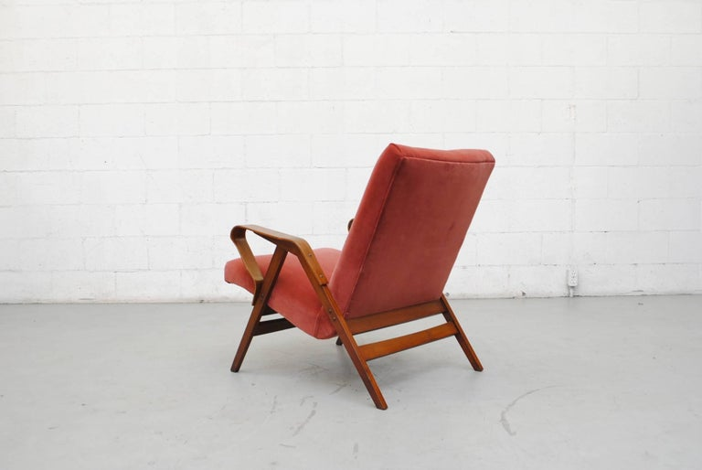 Tatra Bent Plywood Lounge Chair in Velvet 5
