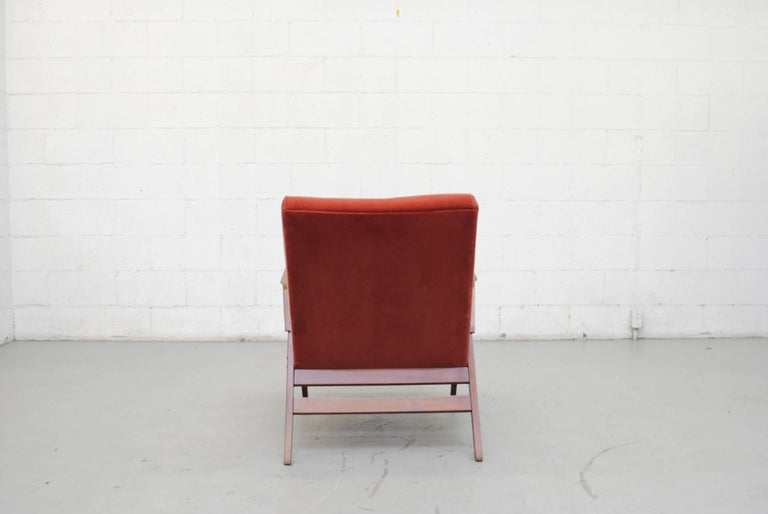 Tatra Bent Plywood Lounge Chair in Velvet 6