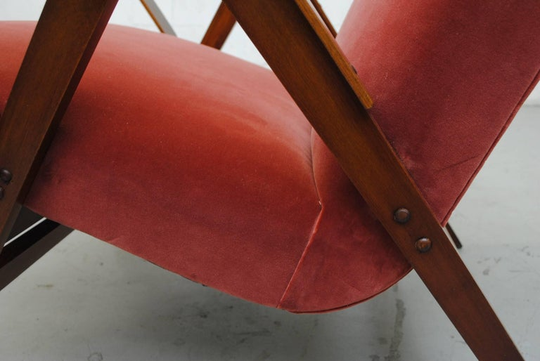 Tatra Bent Plywood Lounge Chair in Velvet 10