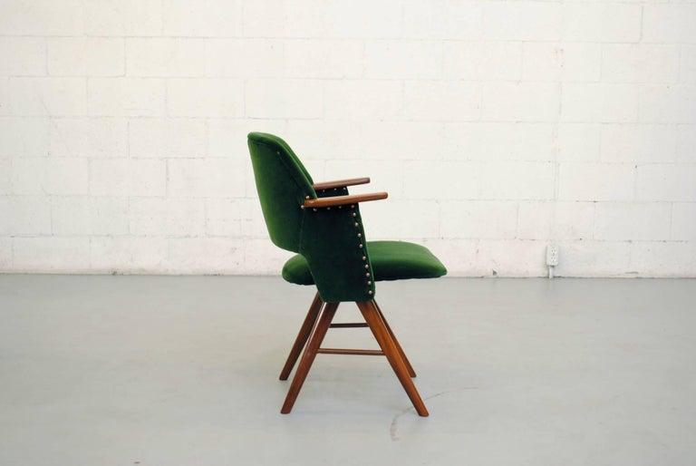 Set of Six Cees Braakman for Pastoe Emerald Velvet FT30 Armchairs 4