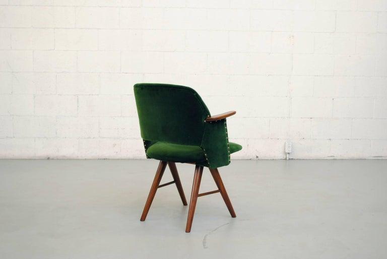 Set of Six Cees Braakman for Pastoe Emerald Velvet FT30 Armchairs 5