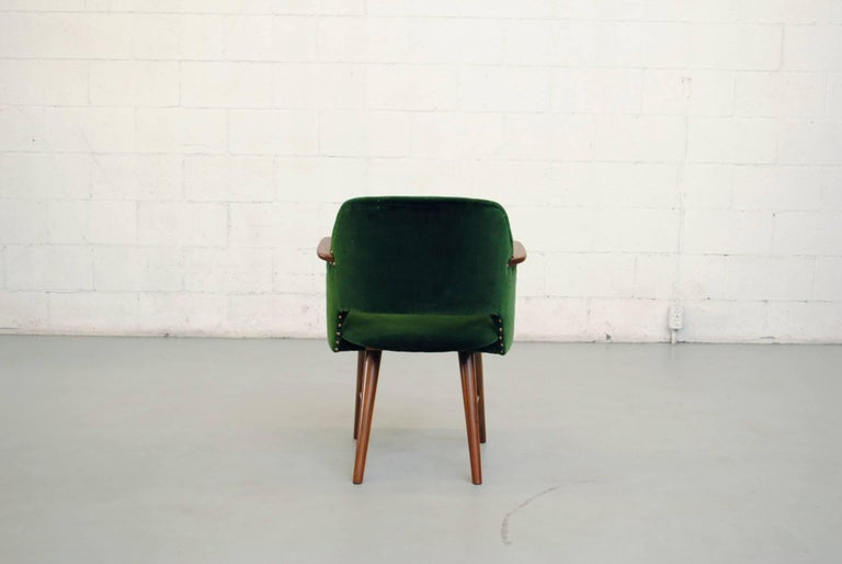 Mid-20th Century Set of Six Cees Braakman for Pastoe Emerald Velvet FT30 Armchairs For Sale