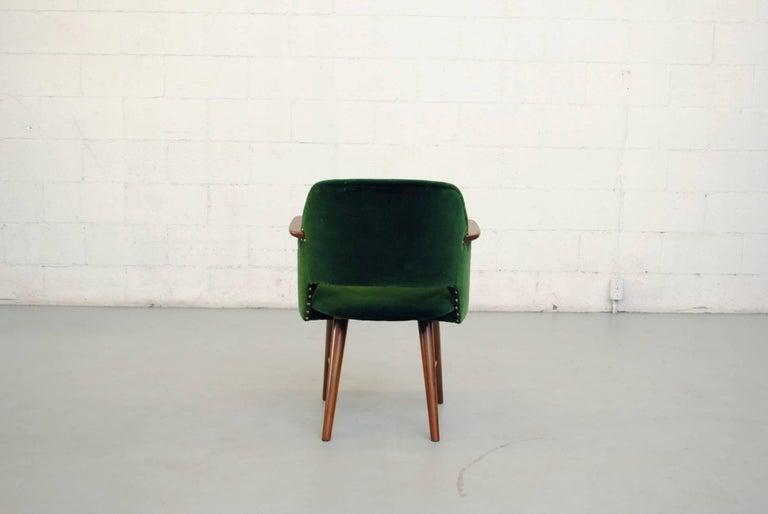 Set of Six Cees Braakman for Pastoe Emerald Velvet FT30 Armchairs 6