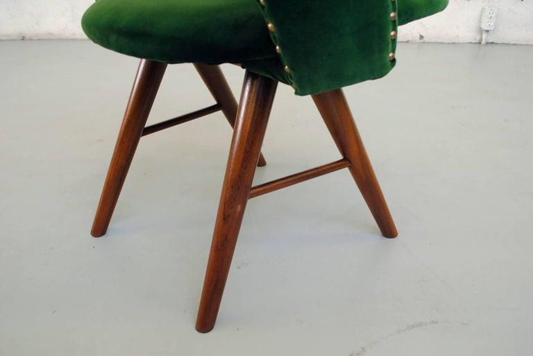 Set of Six Cees Braakman for Pastoe Emerald Velvet FT30 Armchairs 8
