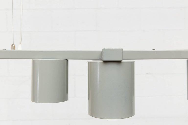 Mid-Century Modern RAAK 1970s Massive Mod Grey Enameled Metal Chandelier For Sale