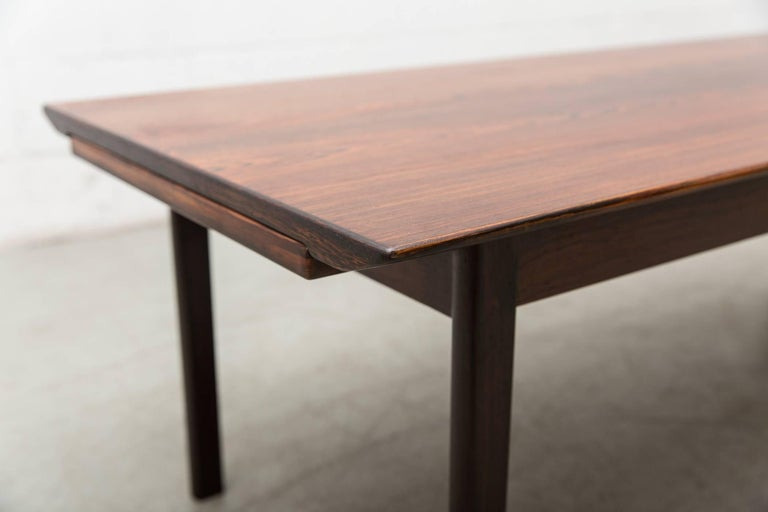 Swedish Rosewood Coffee Table with Extending Trays For Sale 4