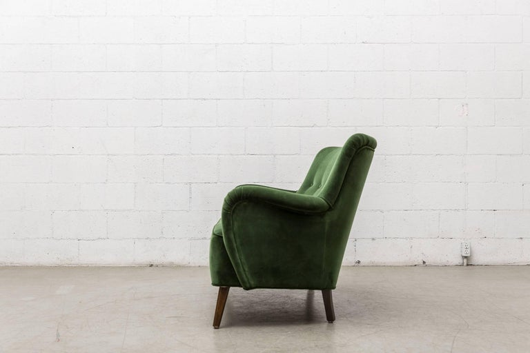 Gorgeous Artifort Emerald Green Velvet Sofa by Theo Ruth 3