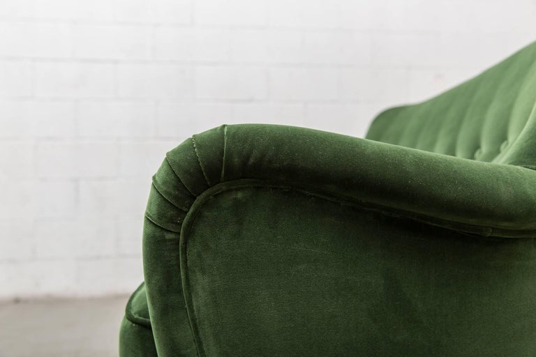 Gorgeous Artifort Emerald Green Velvet Sofa by Theo Ruth In Good Condition For Sale In Los Angeles, CA