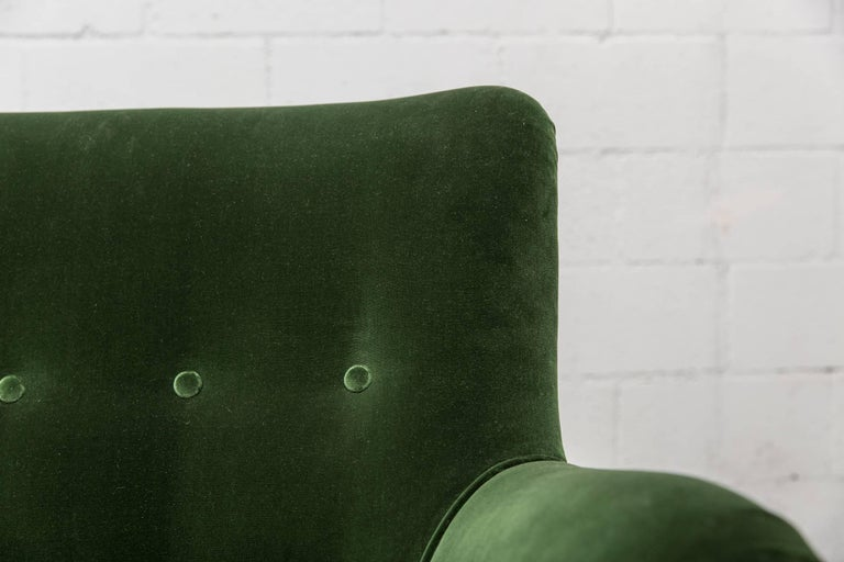 Gorgeous Artifort Emerald Green Velvet Sofa by Theo Ruth 7