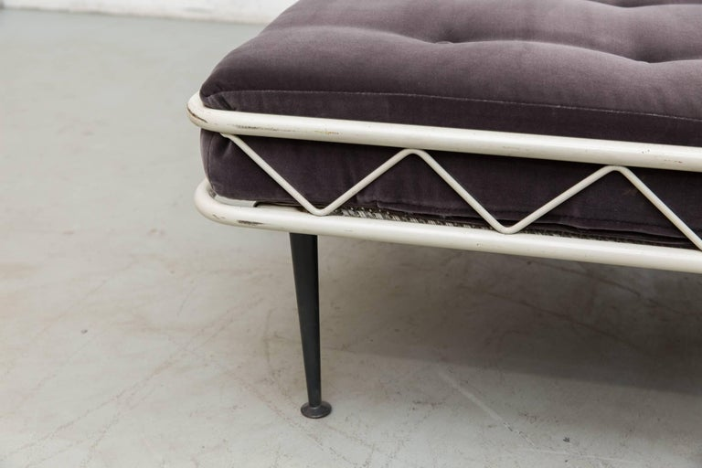 Enameled Rare Wim Rietveld Arielle Daybed for Auping, 1953 For Sale