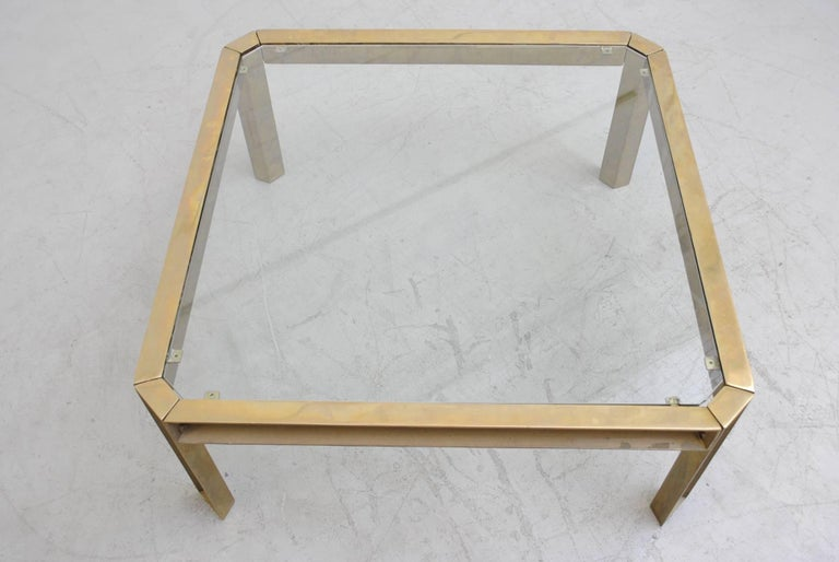 Peter Ghyzcy T09 Brass and Glass Industrial Style Coffee Table 4