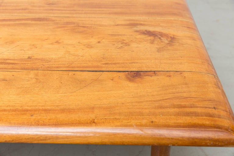 George Nelson Style Solid Teak Bench with Cushion 8