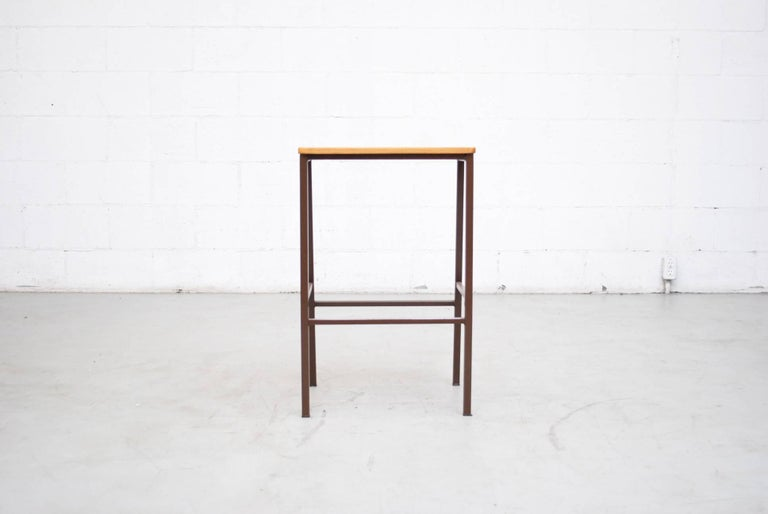 Industrial Wide Seat Stools Or Side Tables For Sale At 1stdibs