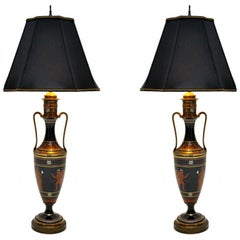 Pair of Greek Urn Table Lamps