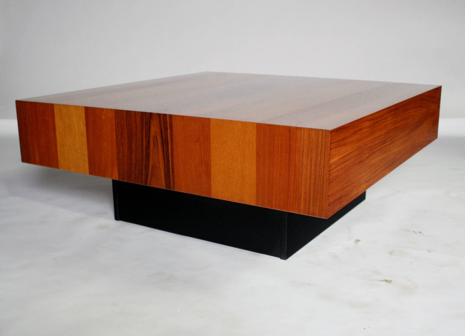 Danish Modern Mixed Wood Square Coffee Table For Sale At 1stdibs