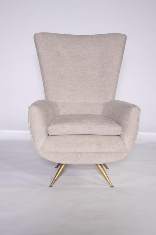Henry Glass Swivel Lounge Chair At 1stdibs