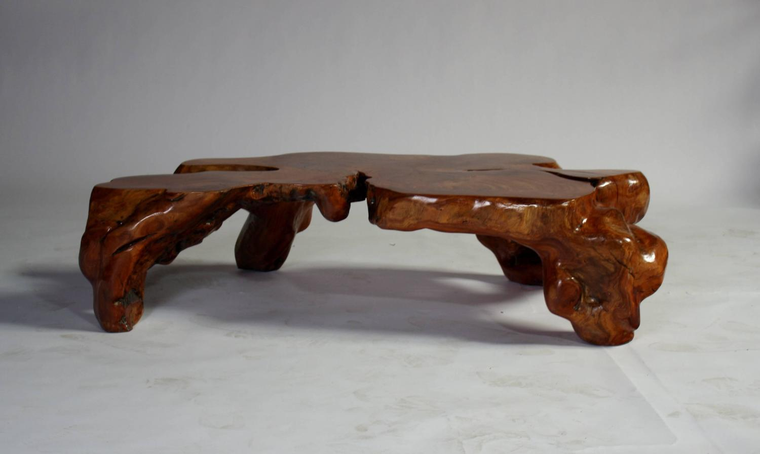 Natural Teak Root Sculptural Tree Coffee Table At 1stdibs