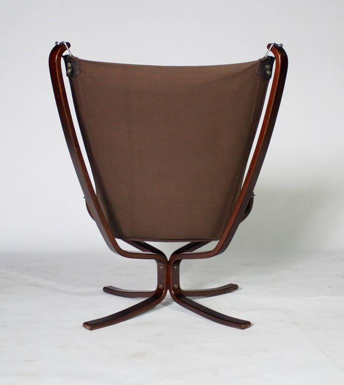 Sigurd Resell Rosewood and Leather Falcon Chair 4
