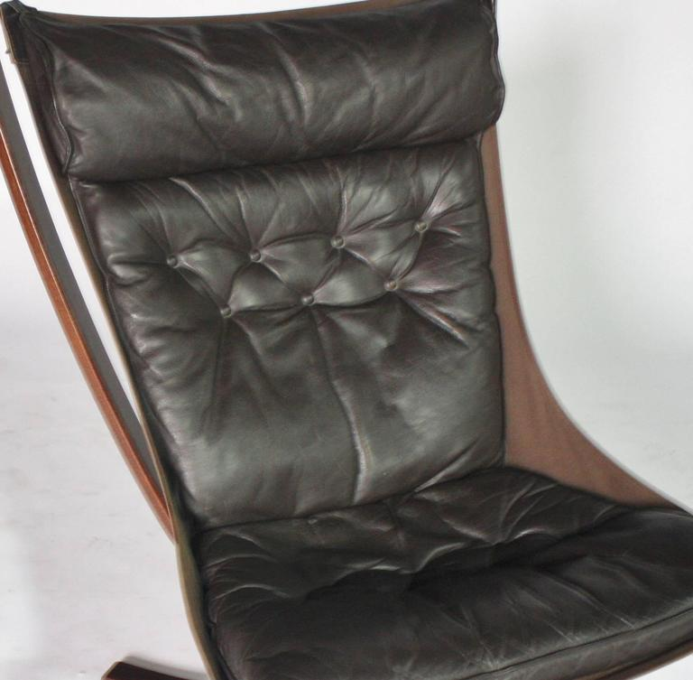 Sigurd Resell Rosewood and Leather Falcon Chair 7