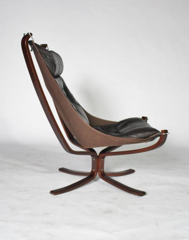 Sigurd Resell Rosewood and Leather Falcon Chair 3
