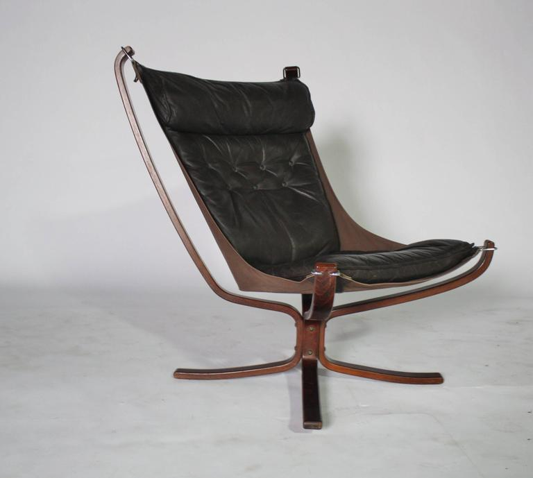 Sigurd Resell Rosewood and Leather Falcon Chair 5