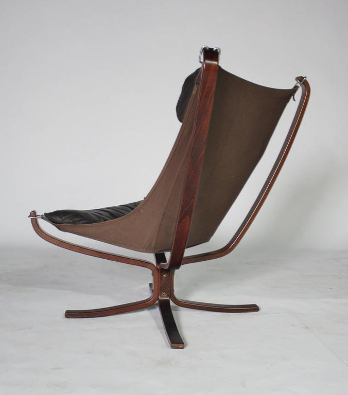 Sigurd Resell Rosewood and Leather Falcon Chair 6